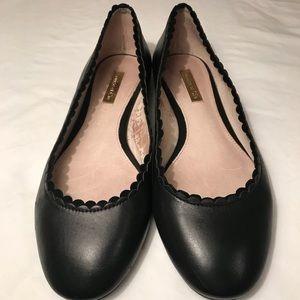 Louise et Cie Shoes - Louise et Cie Black Leather Ballet Flats Scallop 6
